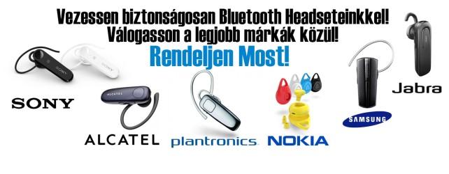 Márkás Bluetooth Headsettek!